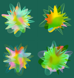 set of splash design element vector image