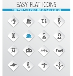 social network and community sites icons set vector image vector image