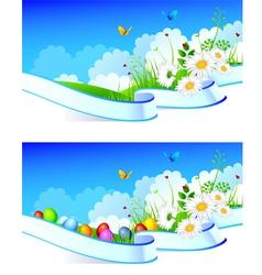 summer ribbon easter vector image vector image