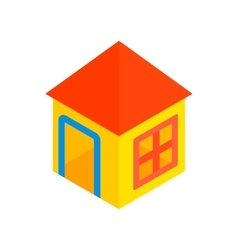 Toy house isometric 3d icon vector image