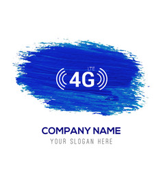 4g icon - blue watercolor background vector