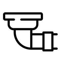 Architecture gutter icon outline style vector