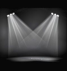 Background image spotlights with stage vector