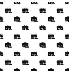 bag cola cheesburger pattern seamless vector image