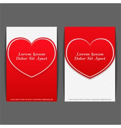 Banners with Heart vector image