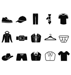 Black Men fashion icons set vector image