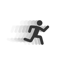 Black running man with motion blur vector