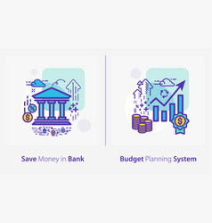 business and finance concept icons save money in vector image