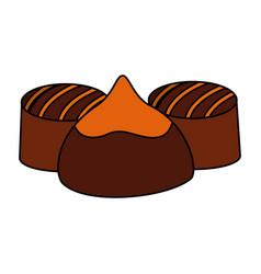 caramel chocolate candy sweet stuffed vector image