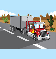 cartoon of big truck vector image