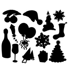 Christmas silhouette collection 03 vector