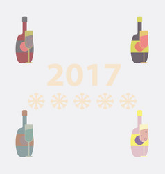 Collection of champagne vector