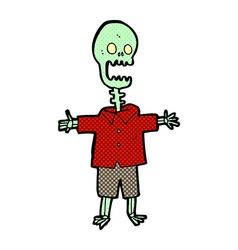 comic cartoon skeleton vector image vector image