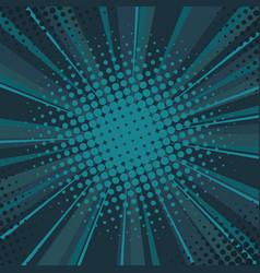 comics rays background with halftones pop art vector image