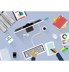 Concept of work place vector image vector image