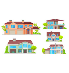 Country house cottage bungalow villa mansion vector