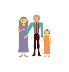 Couples family pregnancy vector