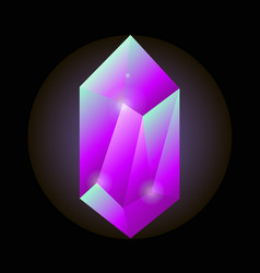 Crystal gemstone or precious gem stone icon vector