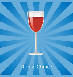 drinks choice shown on blue vector image