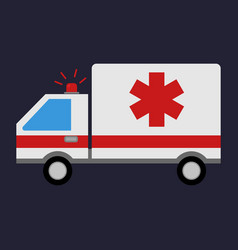 emergency ambulance medical vehicle ambulance car vector image
