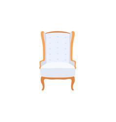 empty classic armchair cartoon style vector image