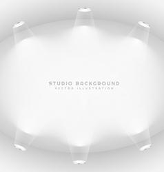 empty studio lights background vector image vector image