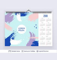 english planning calendar vector image