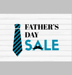 fathers day sale banner on wooden background vector image