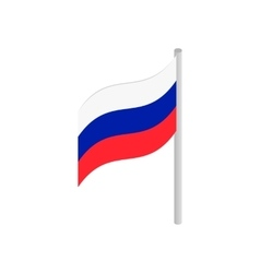Flag of Russia isometric 3d icon vector image