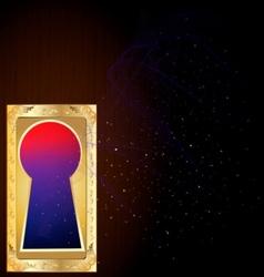 Golden keyhole vector