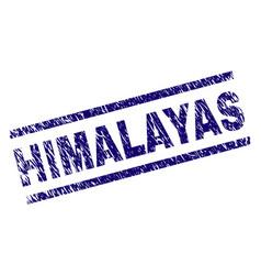 Grunge textured himalayas stamp seal vector