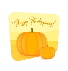 Happy Thanksgiving Day celebrations with pumpkins vector image