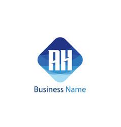 initial letter ah logo template design vector image