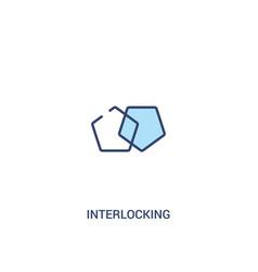 Interlocking concept 2 colored icon simple line vector