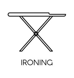 ironing service cleaning company board linear vector image