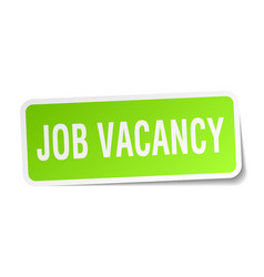 Job vacancy square sticker on white vector