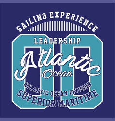leadership atlantic ocean vector image