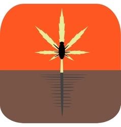 Marijuana pests vector image