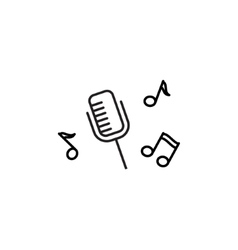 Microphone Recording icon vector image