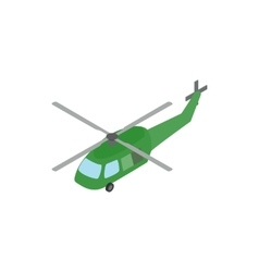Military helicopter icon isometric 3d style vector image
