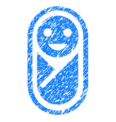 newborn grunge icon vector image