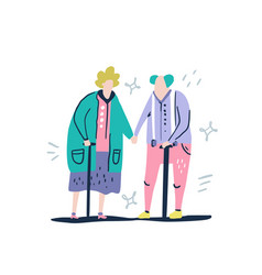 Old people couple vector