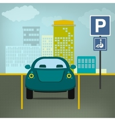 parking lot vector image vector image
