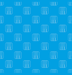piano keys pattern seamless blue vector image