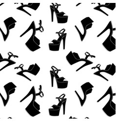 Pole dance stripper shoes exotic girls vector