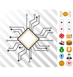 Processor circuit icon with bonus vector
