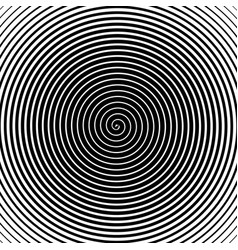 Psychedelic spiral with radial rays vector