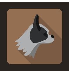 Pug dog icon flat style vector