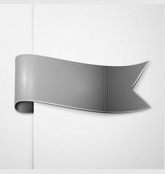 Realistic shiny grey ribbon isolated vector