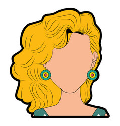 Retro woman cartoon vector
